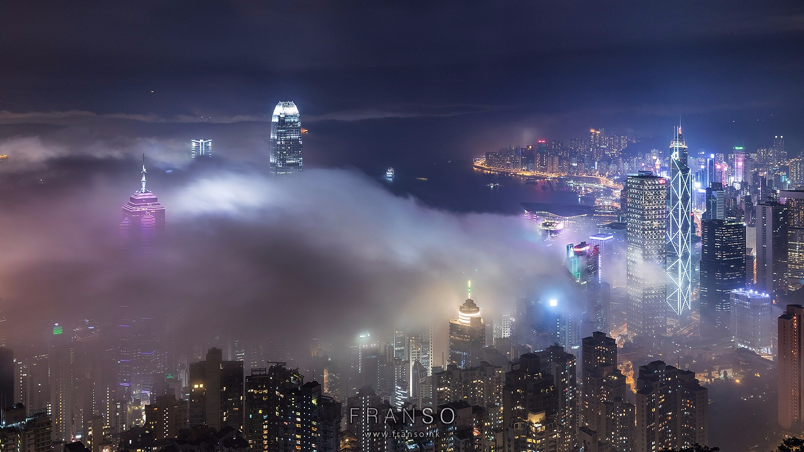 Cityscape | Hong Kong | Misty  | Hong Kong, Lugard Road, Peak