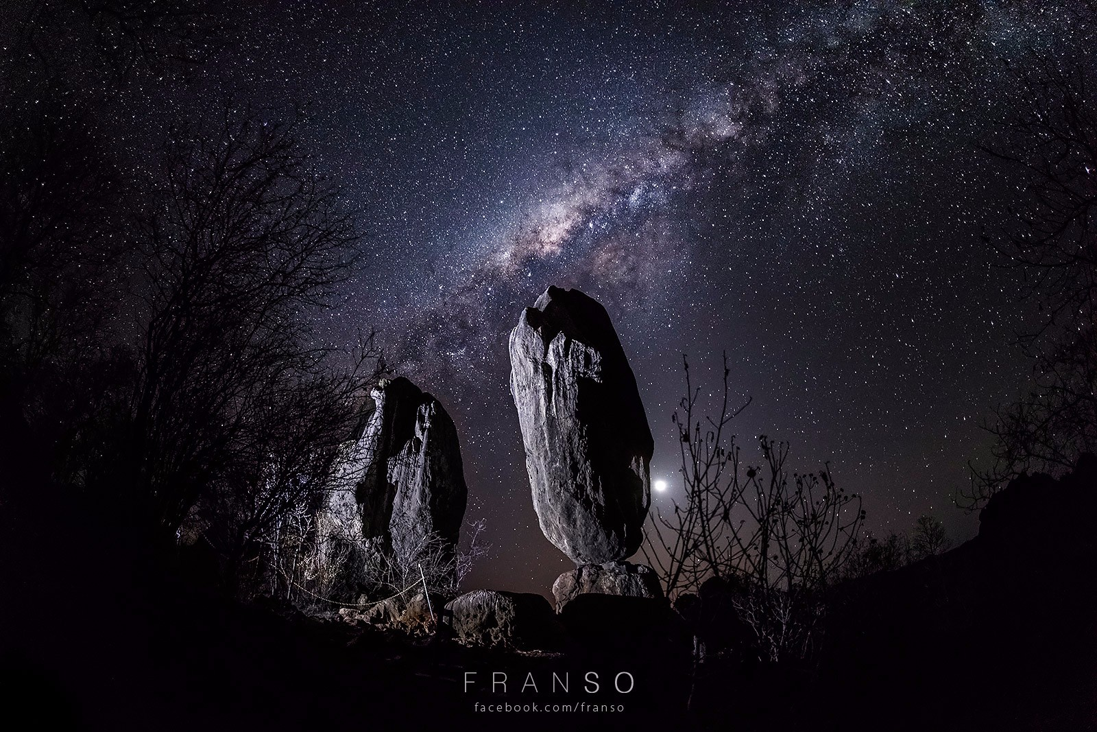 Starscape and Milkyway |  | The Balancing Rock | Chillagoe National Park, QLD, Australia