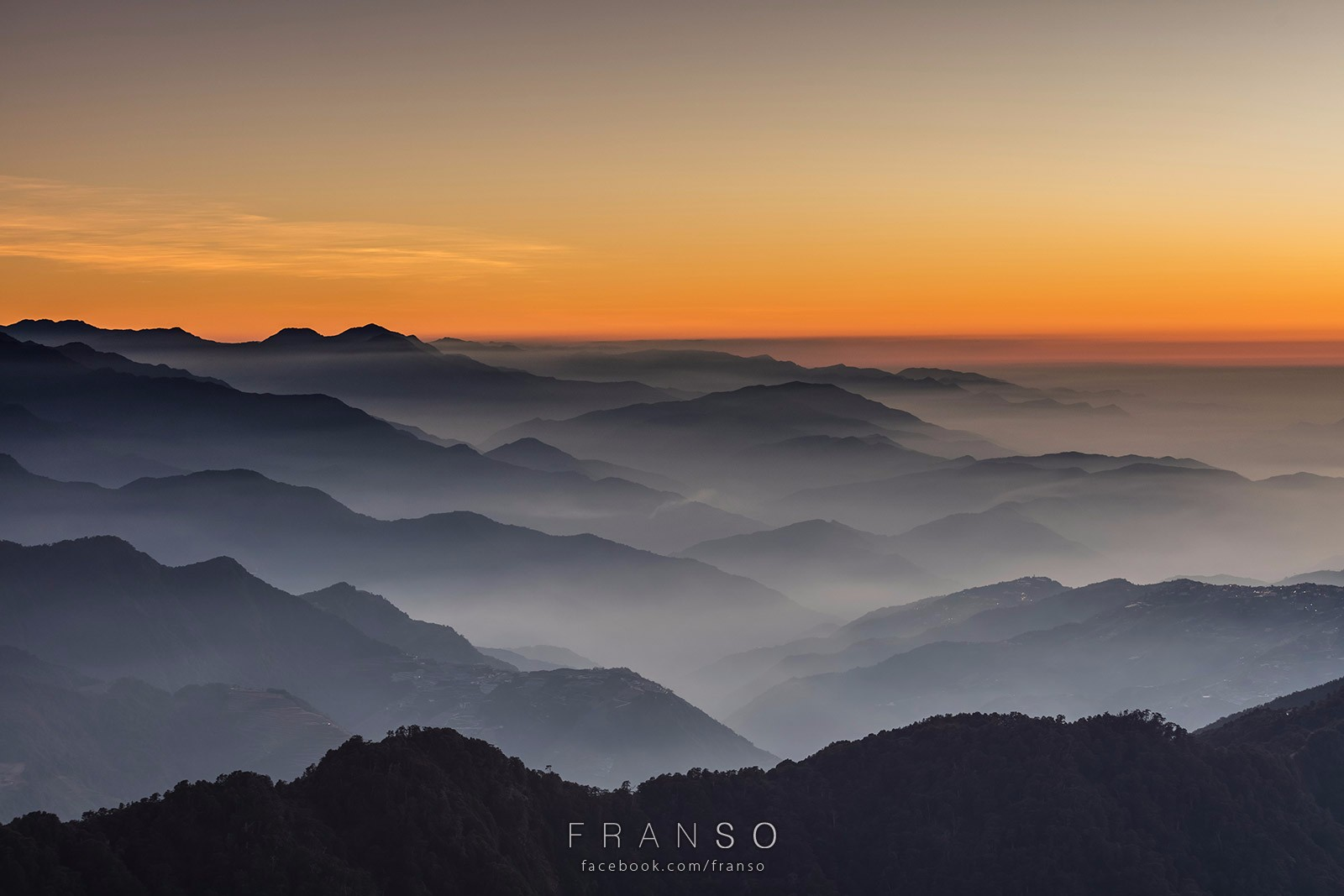 Landscape |  | After sunset | Hehuanshan, Taiwan