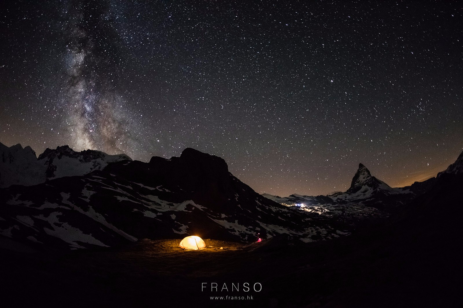 Starscape and Milkyway |  | Camping on the Alps | Valais, Switzerland