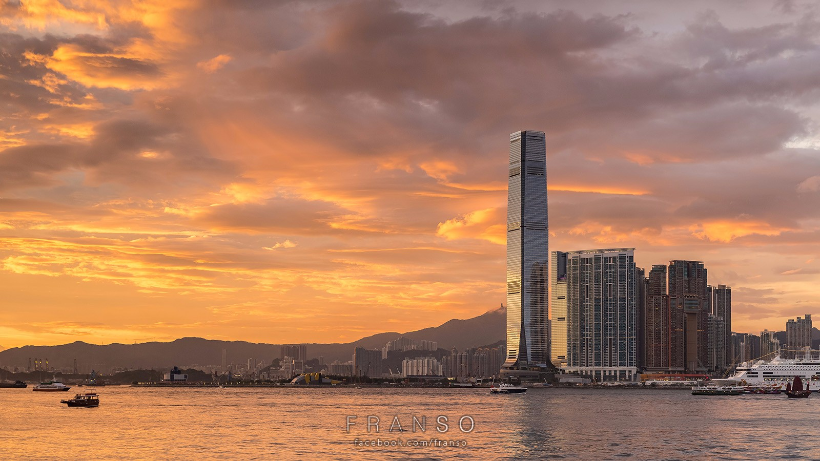Cityscape | Hong Kong | burning sky  | ICC
