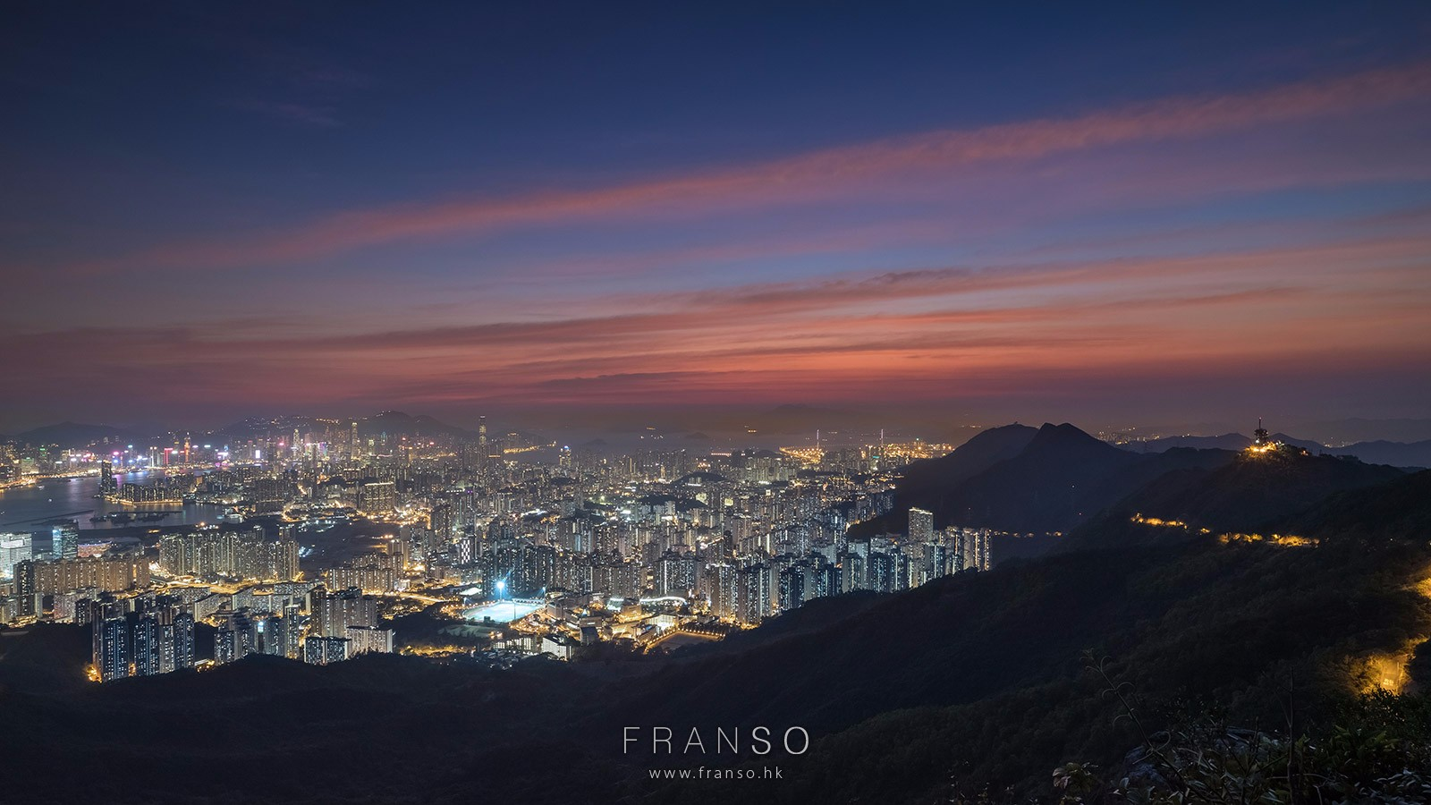 Cityscape | Hong Kong | Sunset of Kowloon |