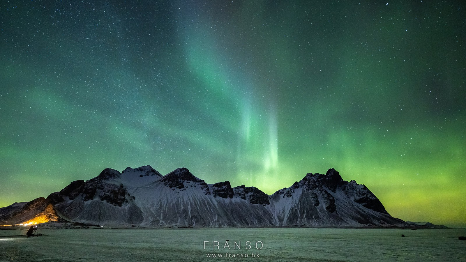 Landscape | Overseas | Vestrahorn and Aurora | Aurora hunting at Stokksnes