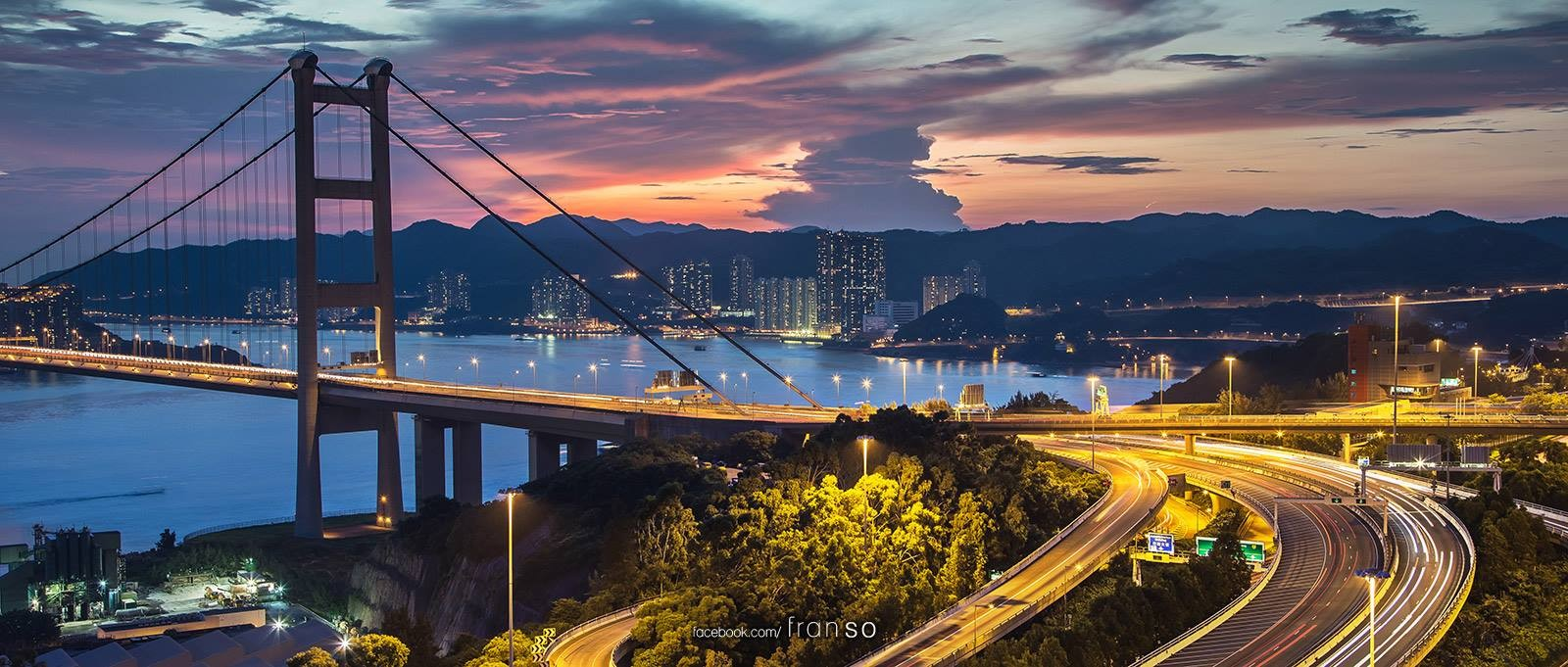 Cityscape | Hong Kong | Tsing Ma Bridge  | Before typhoon