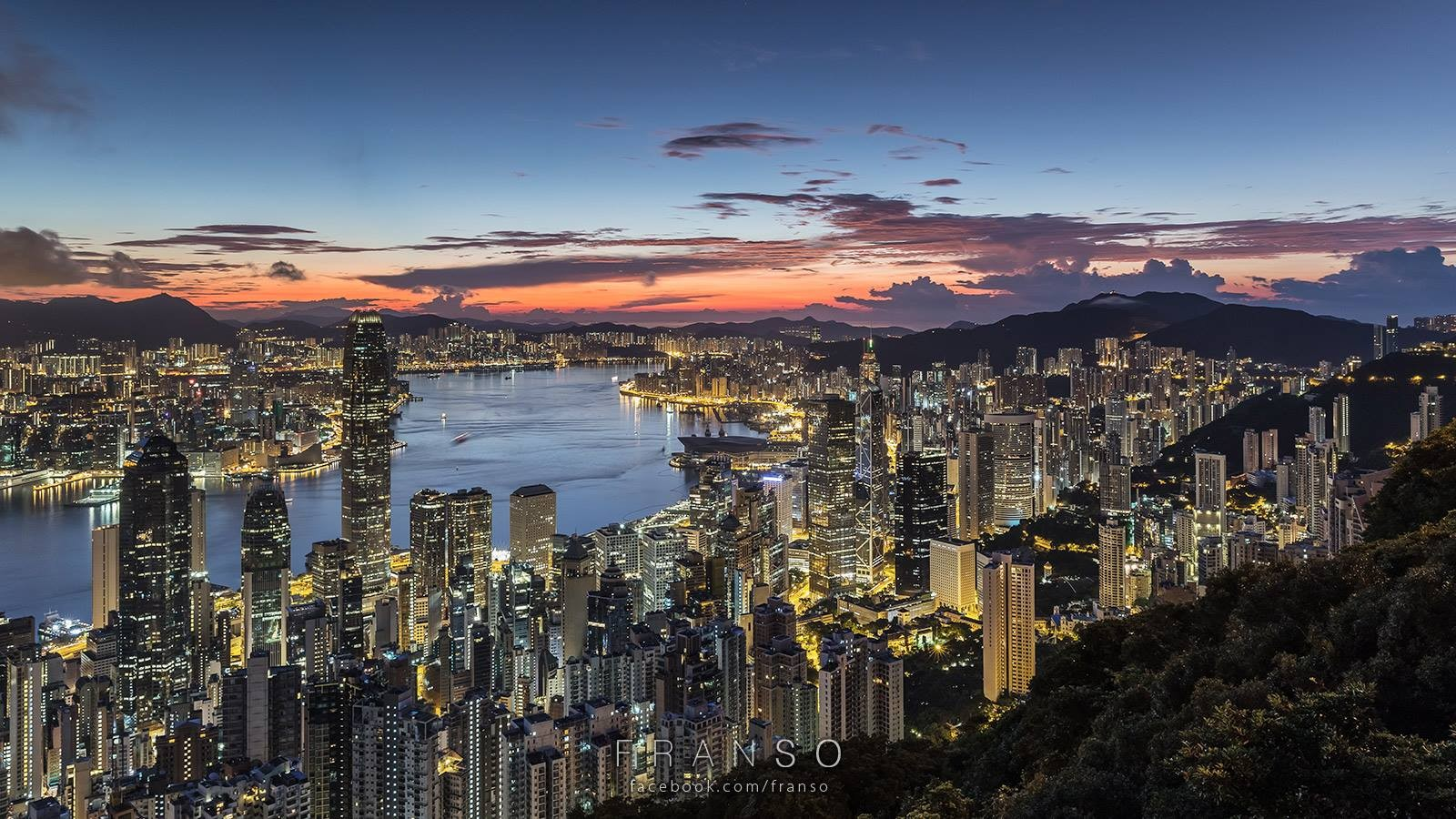 Cityscape | Hong Kong | Dawn | Lugard Road, The Peak