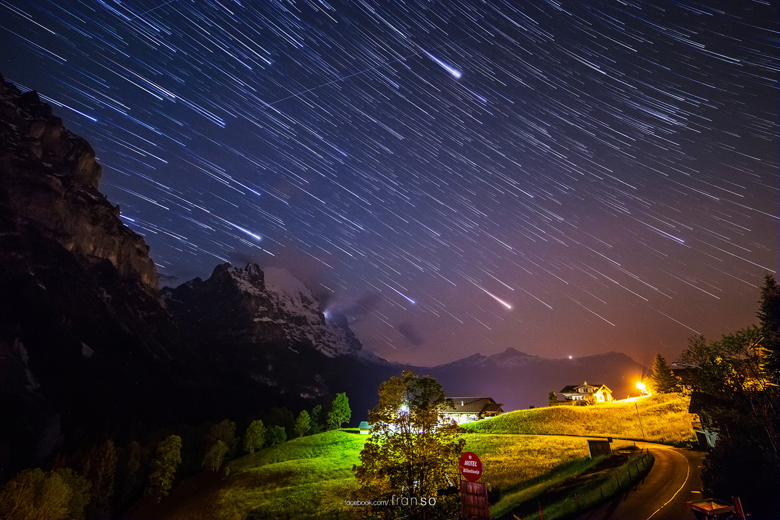 Starscape and Milkyway |  | Startrails | at Grindelwald